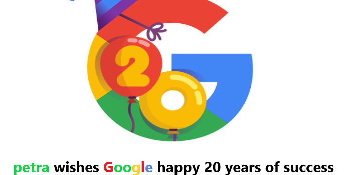 Happy Birthday Google , Google celebrate 20 years of Success